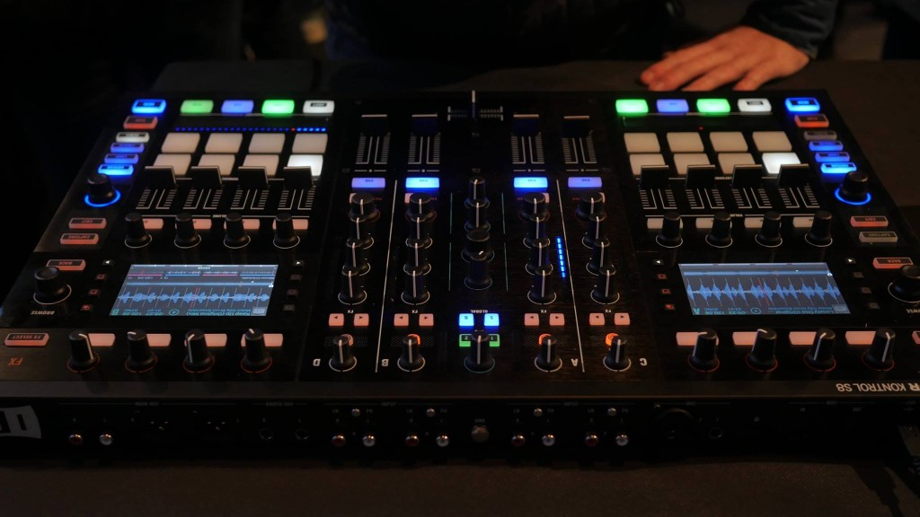 The S8 is huge. As it includes a mixer, it's a great studio/home tool. And it works well in mainstage gigs where you can demand space on the rider. Where it doesn't work: crowded DJ booths, which haven't installed these in anything approaching the quantity that the ubiquitous CDJ has been.