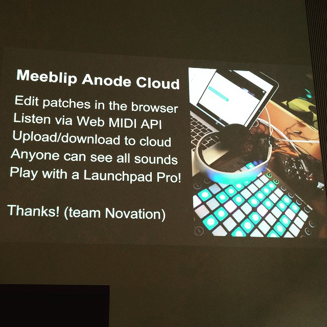 Thanks to the Novation team for messing with our synth at a hack day recently!