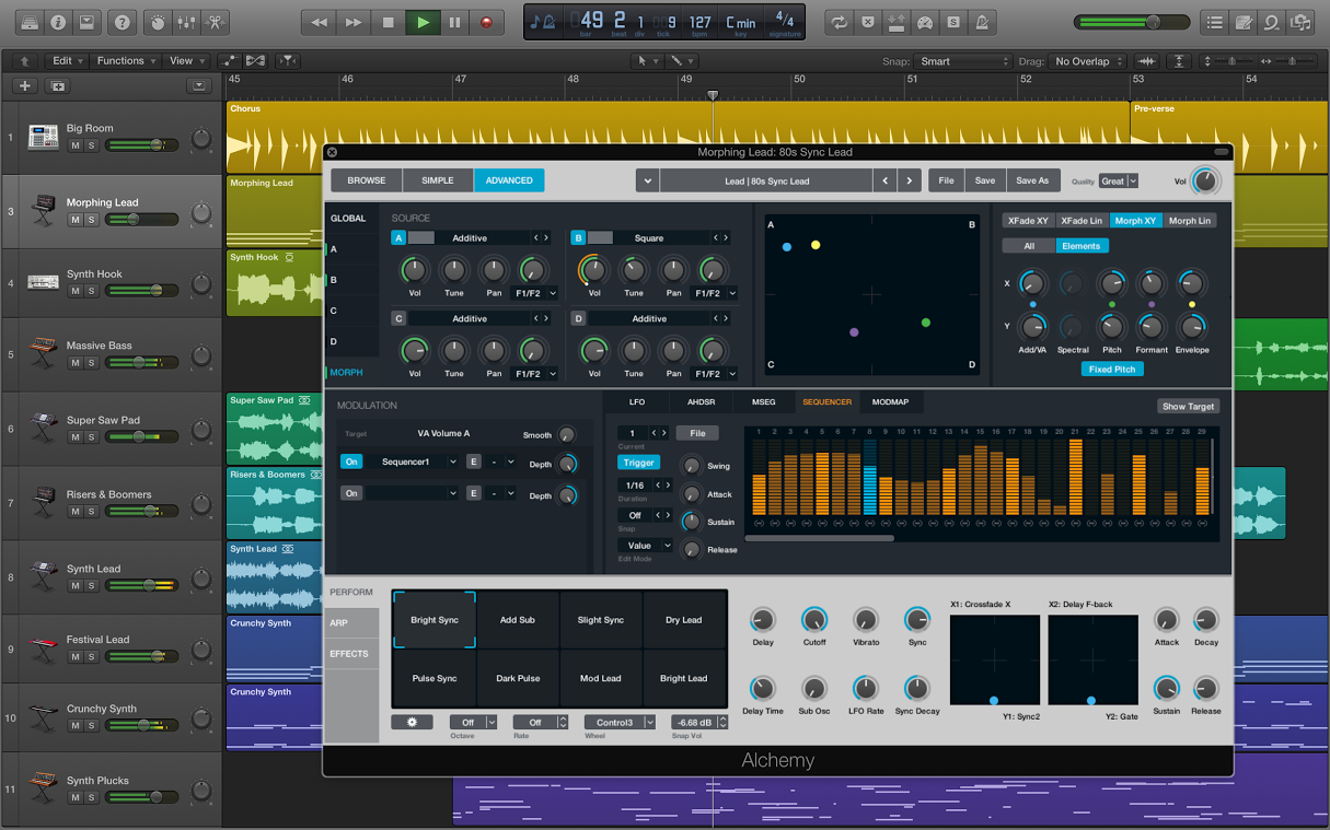 Alchemy synth is now a part of Logic Pro X