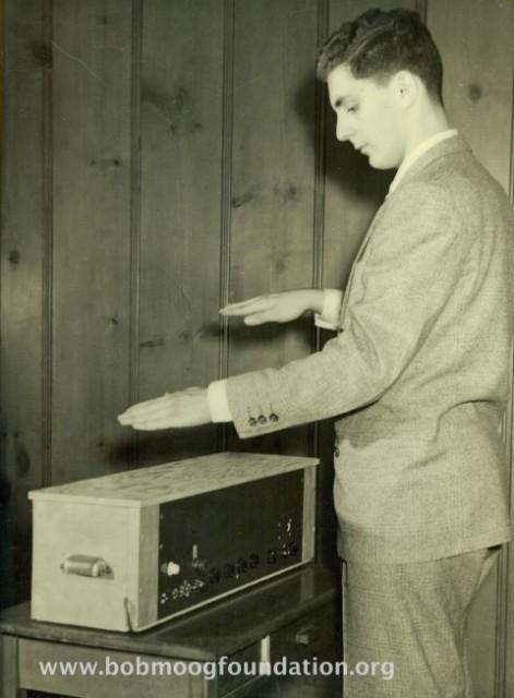 Bob playing theremin '52_1