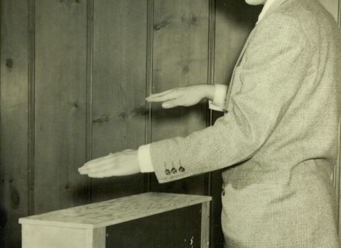 Bob playing theremin '52_1