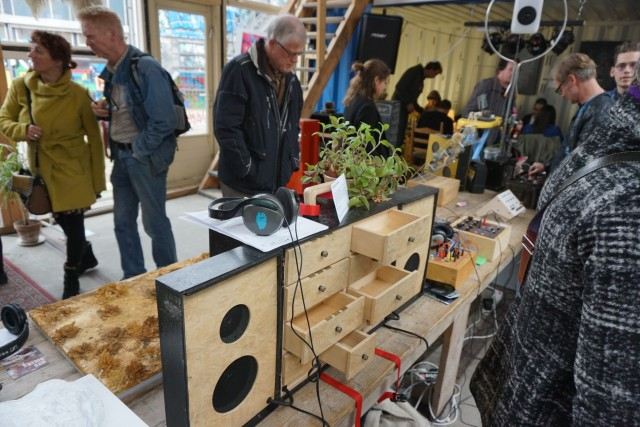 Musical cupboard by Roel ... where you can open drawers to hear sounds