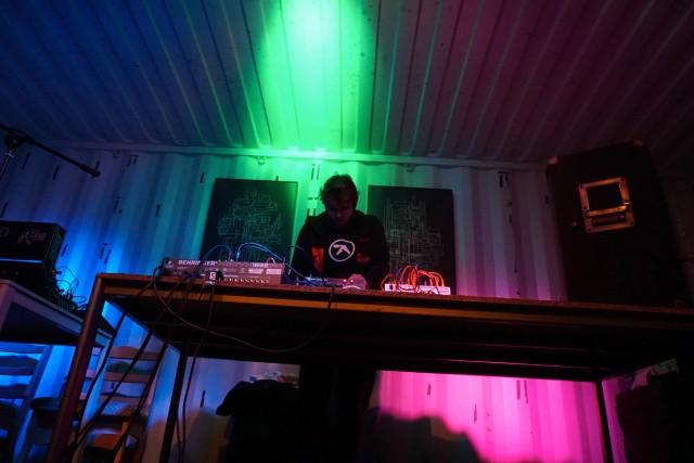 Tijs Ham with his 'Three Mixers' performance