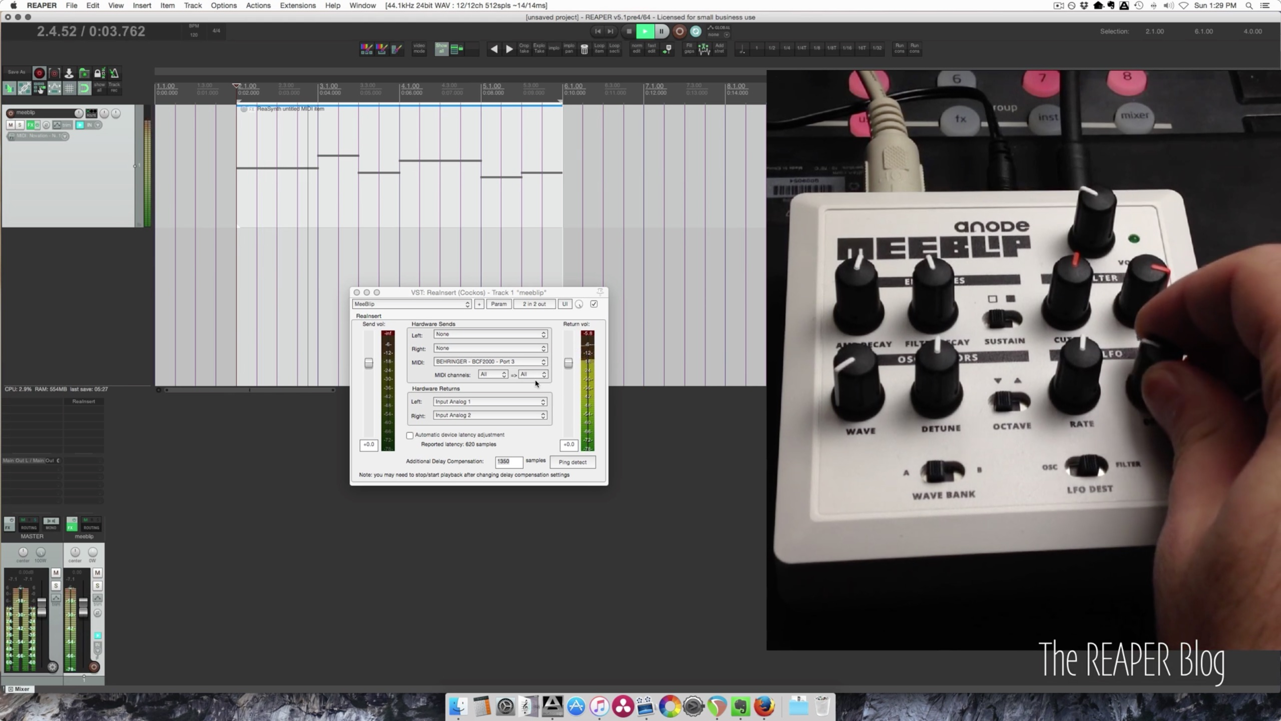Use a hardware synth like it's a plug-in - in a $60 DAW