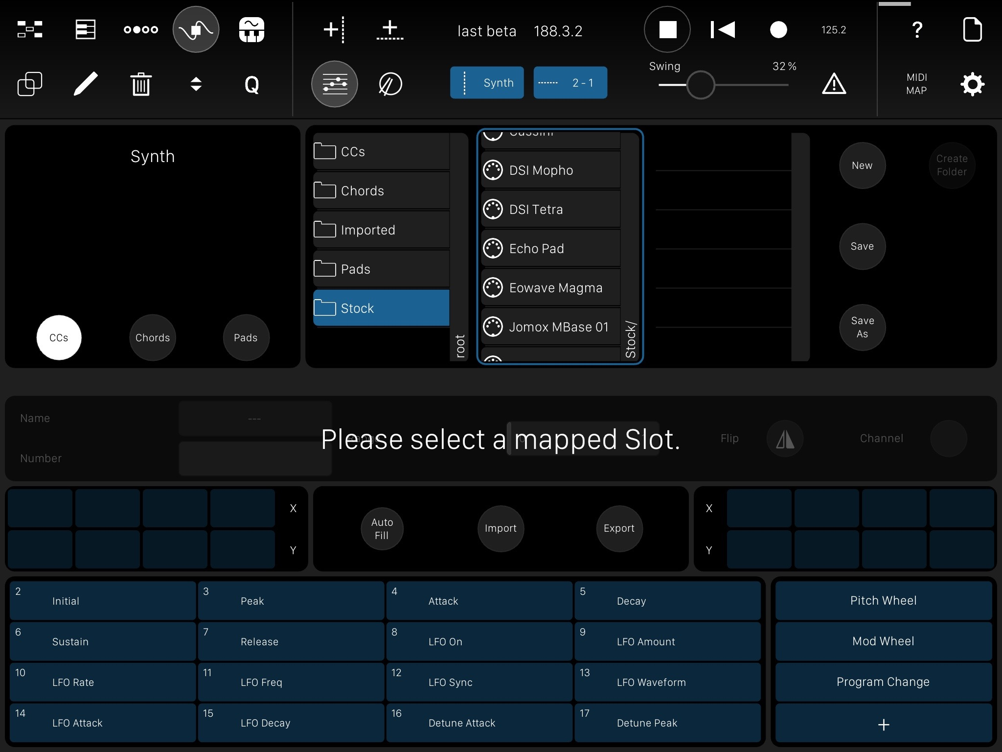 The powerful template editor, which comes pre-equipped with a library of useful templates. That makes Modstep a librarian as much as a sequencer.