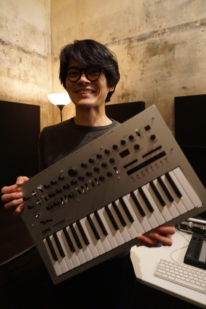 Why is this man smiling? Why, because Tats has just finished what's likely to be another big hit for KORG.