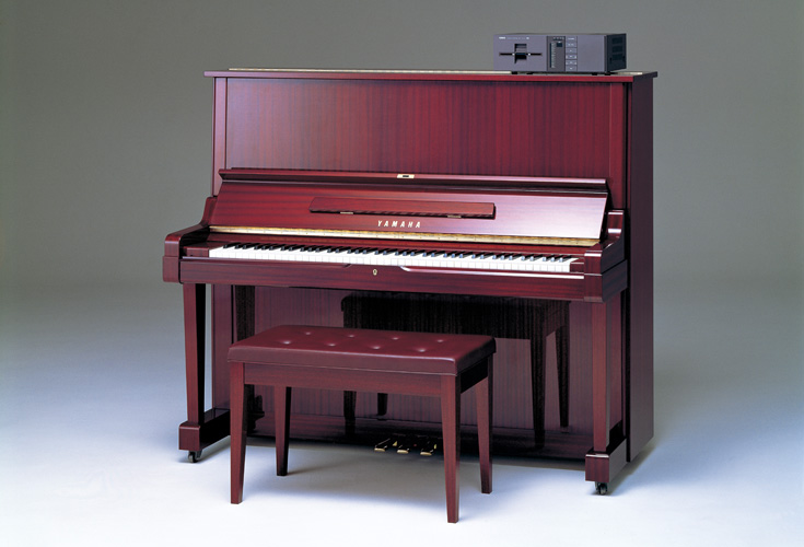 The original Yamaha player piano - with actual discs. Photo courtesy Yamaha Corporation.