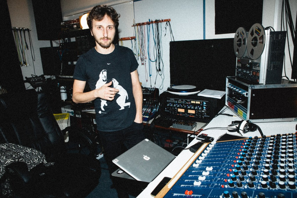 Lucy (Luca Mortellaro) in his home studio, where the EP was recorded live to tape.