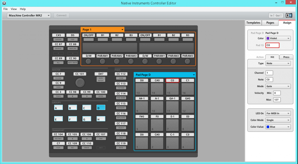 Maschine MIDI mappings, for controlling Traktor.