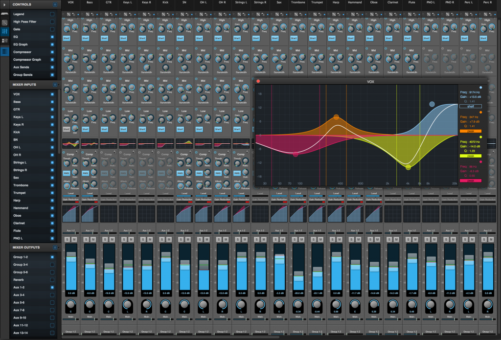 Another set of updates from MOTU includes free, powerful mixing and processing tools for their interfaces. This UI is actually running over the Web, not in native software - which is ideal for long cable runs and networked interfaces. Image: MOTU.