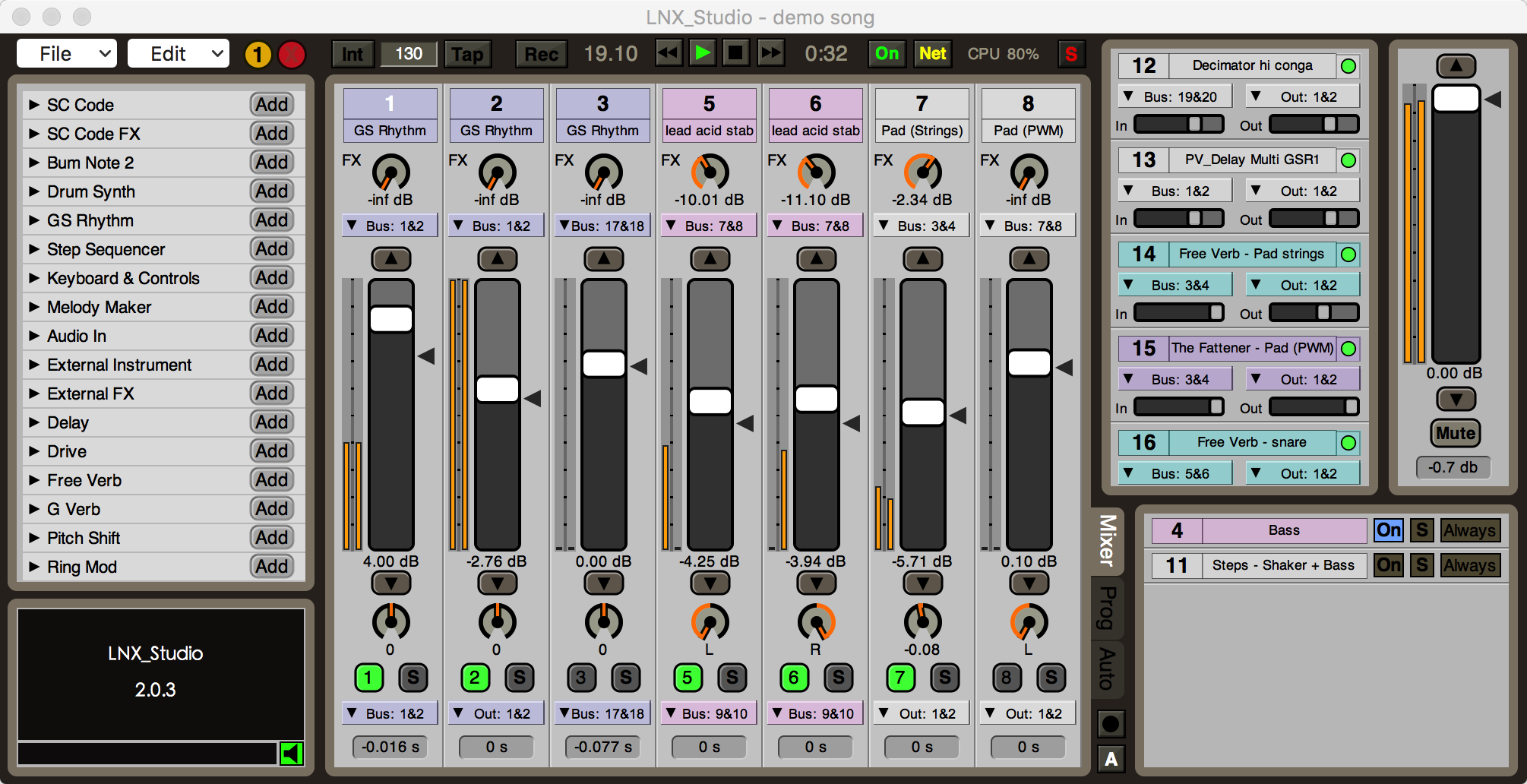 A totally free DAW and live environment, built in SuperCollider