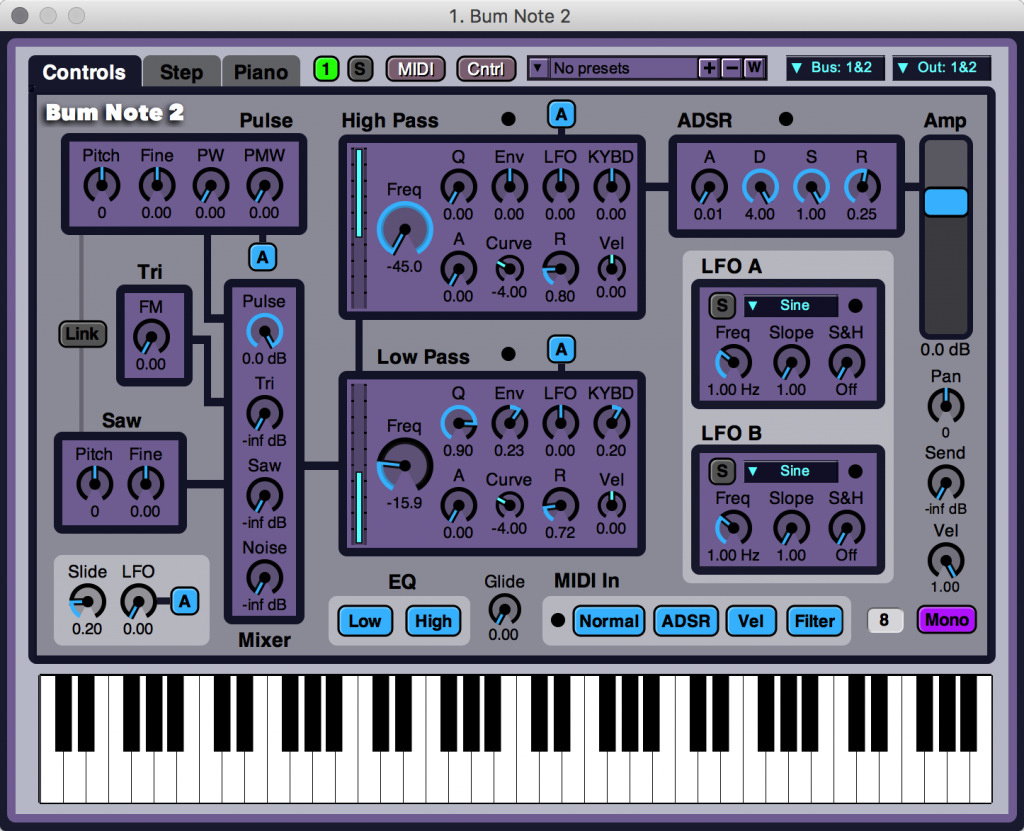 Oh, yeah, and out of the box, you get some powerful, nice-sounding virtual analog synths.