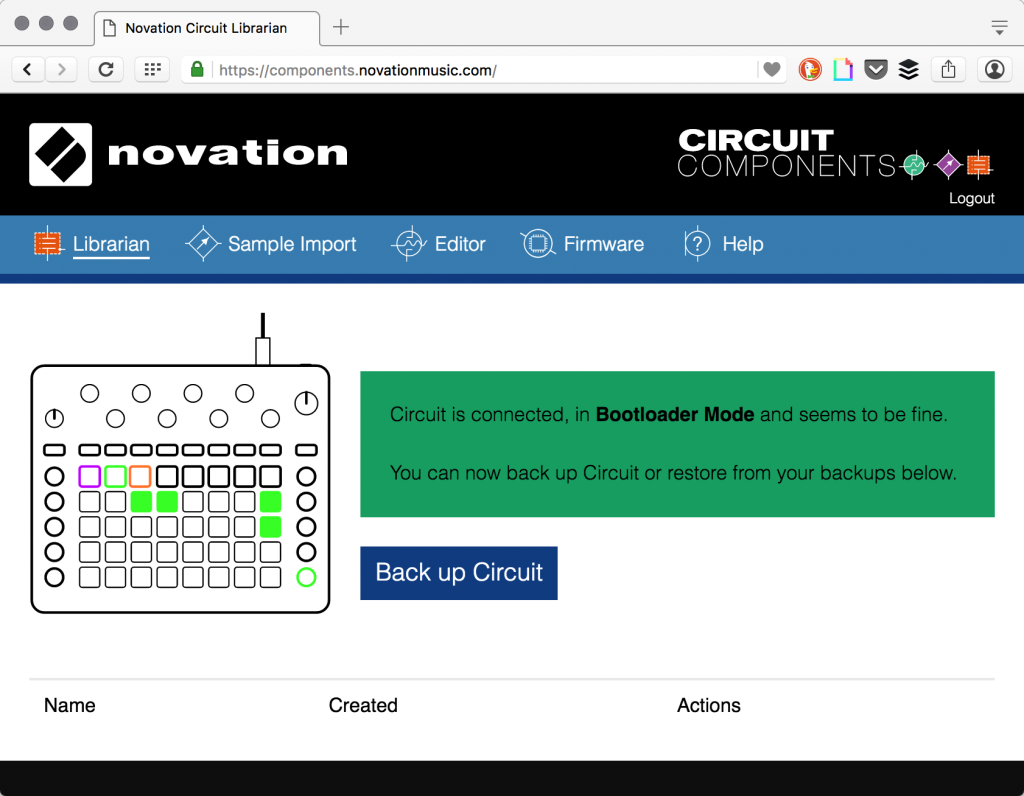 Hands On Guide To Customizing The Novation Circuit Cdm Create Logic Diagram Tool Finally Youll See A Pattern Of Green Lights Indicating Youre In