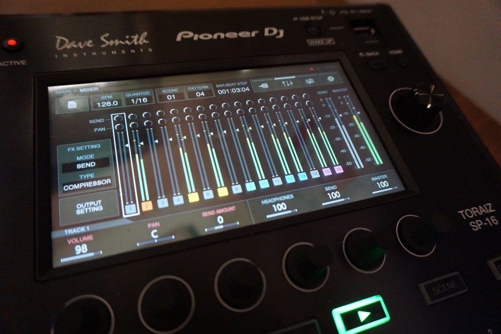 The mixing screen.