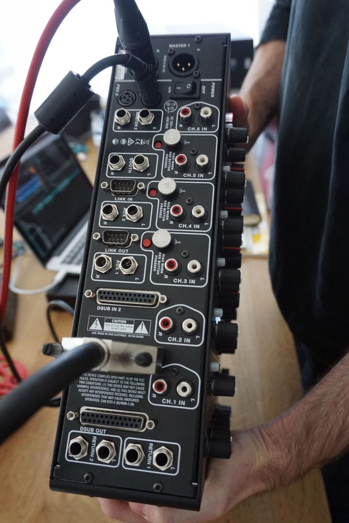 Those D-SUB connectors make balanced I/O to the computer and even back again easy. That's Richie Hawtin, celebrity hand model to CDM.
