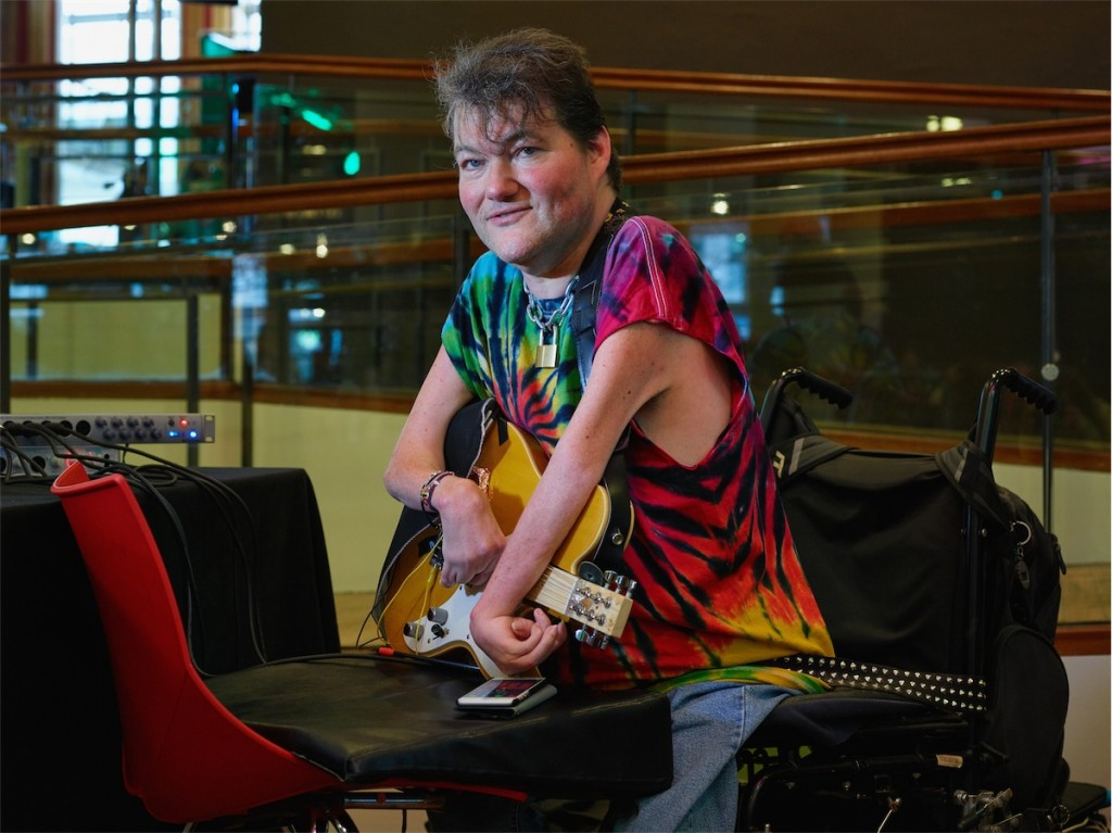 John Kelly and the Kellycaster - part of the new wave of making music tech work better for people of all abilities. Photo courtesy MTF.