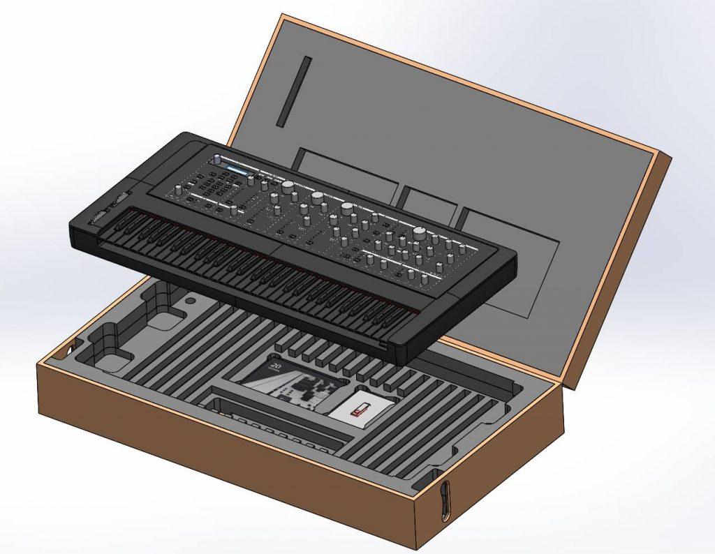 Custom wooden case.