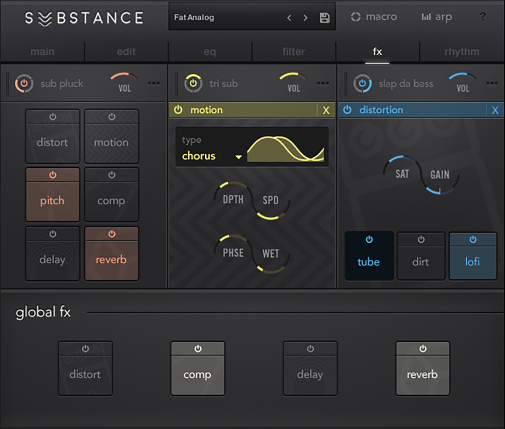 There's a complete effects suite, too.