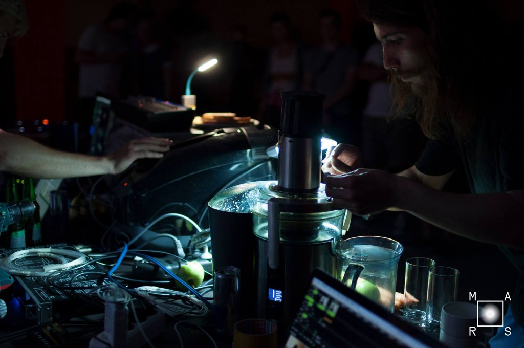 Ildar Yakubov performs live - the same crazy scientist behind the mayhem of the interactive marathon.