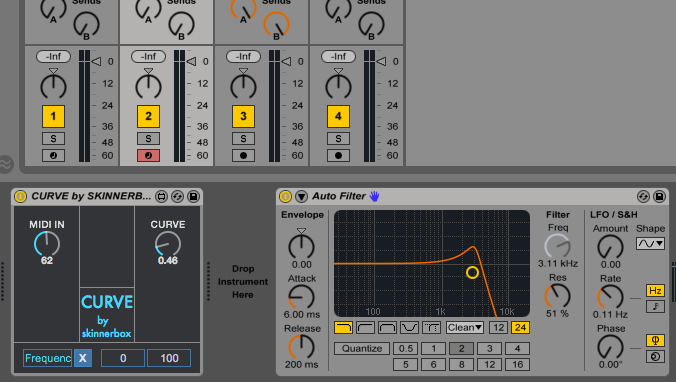 Skinnerbox's free M4L Device is the MIDI curve Ableton forgot