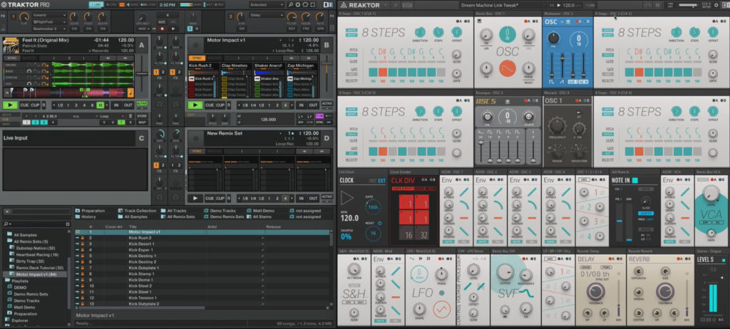 Reaktor adds Ableton Link, for software patches or hardware modular