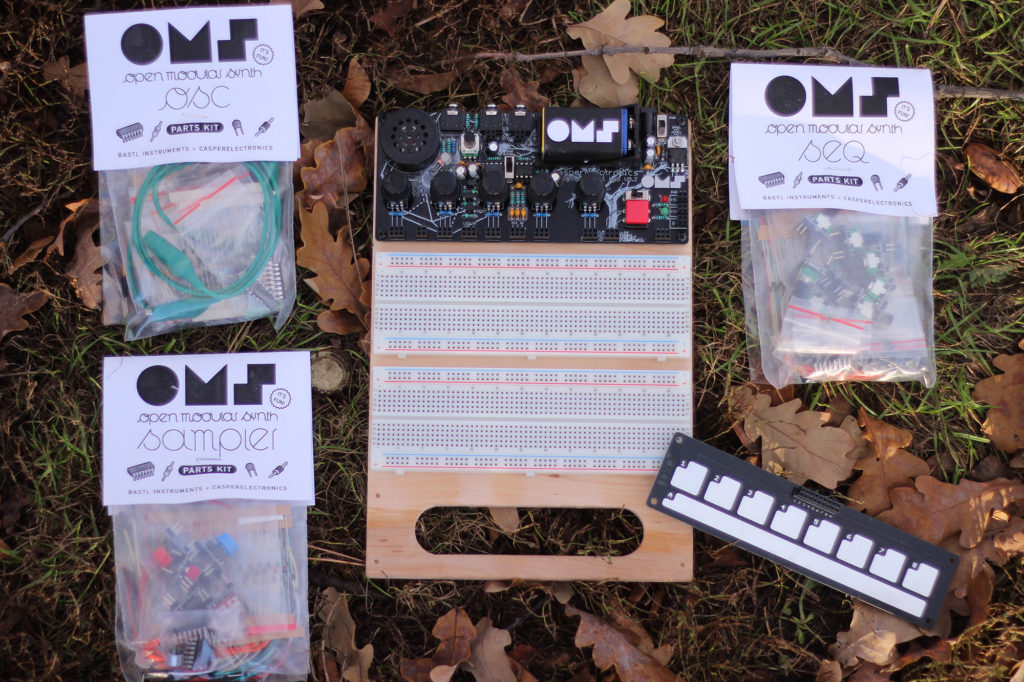 Full board is available assembled or as a DIY kit. Here it is with the full collection of accessories part bags for the tutorials.
