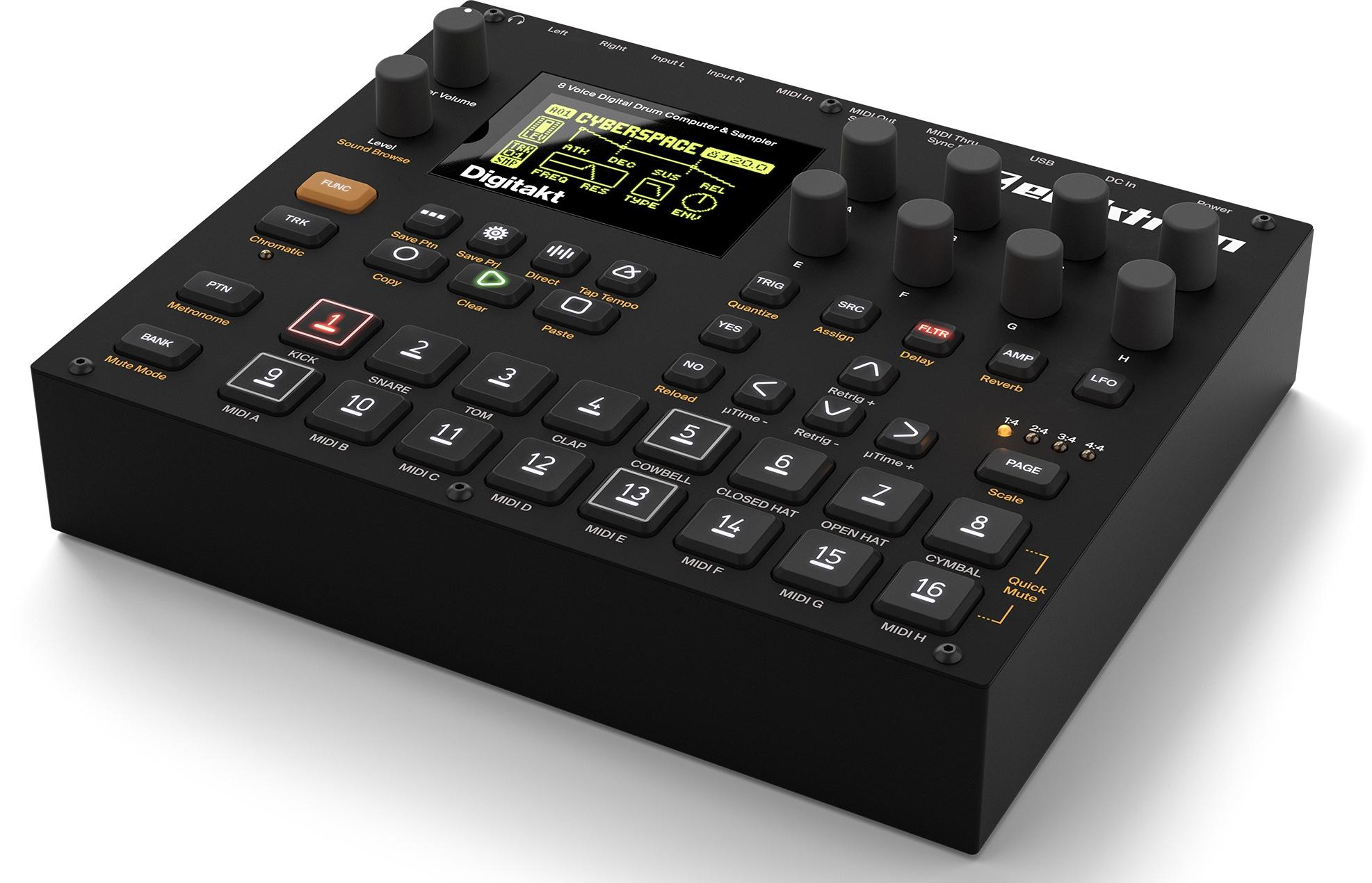 elektron 39 s digitakt is a compact drum machine sequencer sampler cdm create digital music. Black Bedroom Furniture Sets. Home Design Ideas