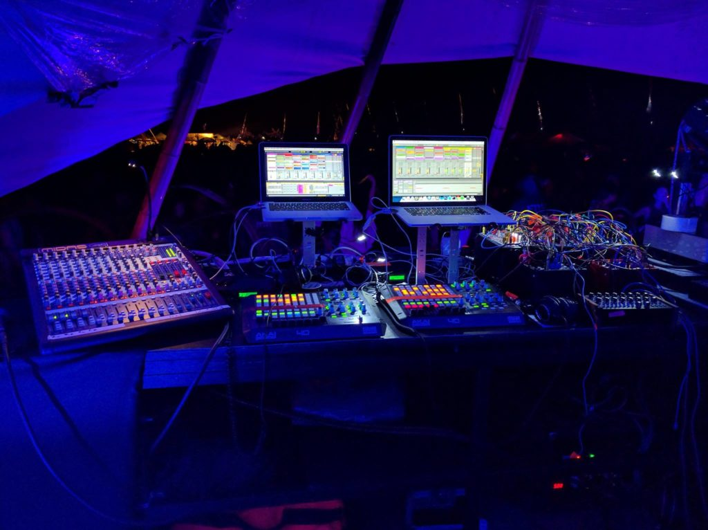 Rig for Labyrinth festival - Japan, 2016. Courtesy the artists.