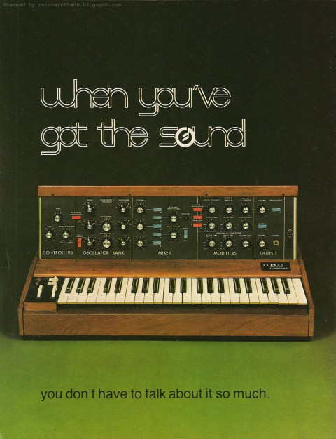 Minimoog, as seen in the September '79 issue. Just the Moog ad archive alone is something to see - and it's basically all from Keyboard/Contemporary Keyboard.