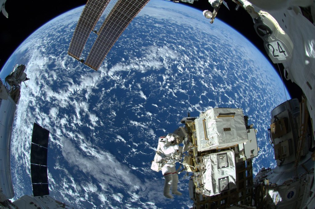 Photo by ESA astronaut Alexander Gerst , from a 2015 spacewalk. Photo source ESA/NASA.