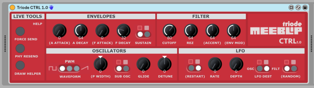 Two new ways to integrate MeeBlip triode synths with Ableton Live, free