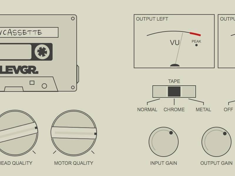 daw cassette tape deck emulation