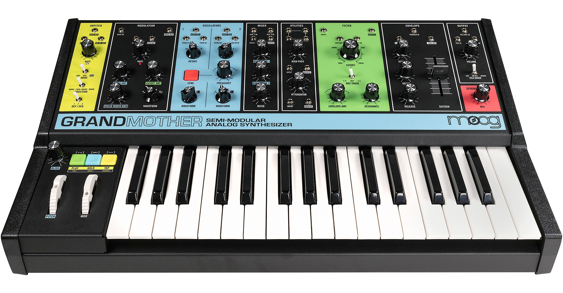 all the details on moog 39 s new grandmother semi modular synth cdm create digital music. Black Bedroom Furniture Sets. Home Design Ideas