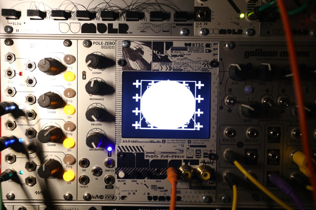 DU-NTSC is a modular visualizer, AV toy, and video generator