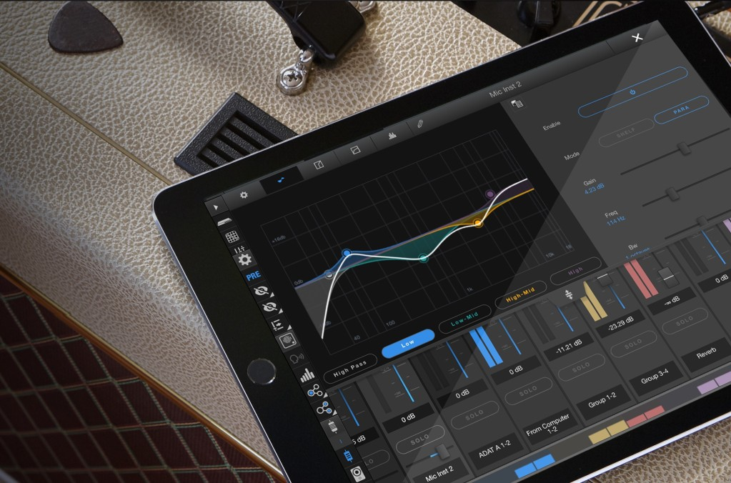 the mixing powers in motu audio interfaces are now on ios. Black Bedroom Furniture Sets. Home Design Ideas