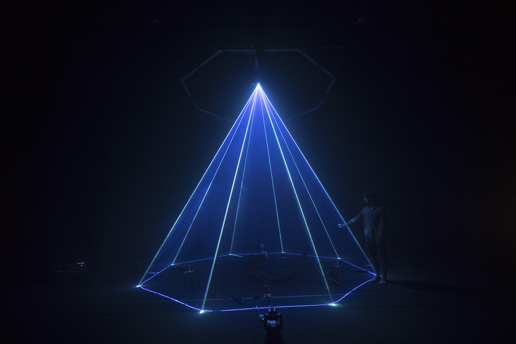 This light sculpture plays like an instrument, escaped from Tron