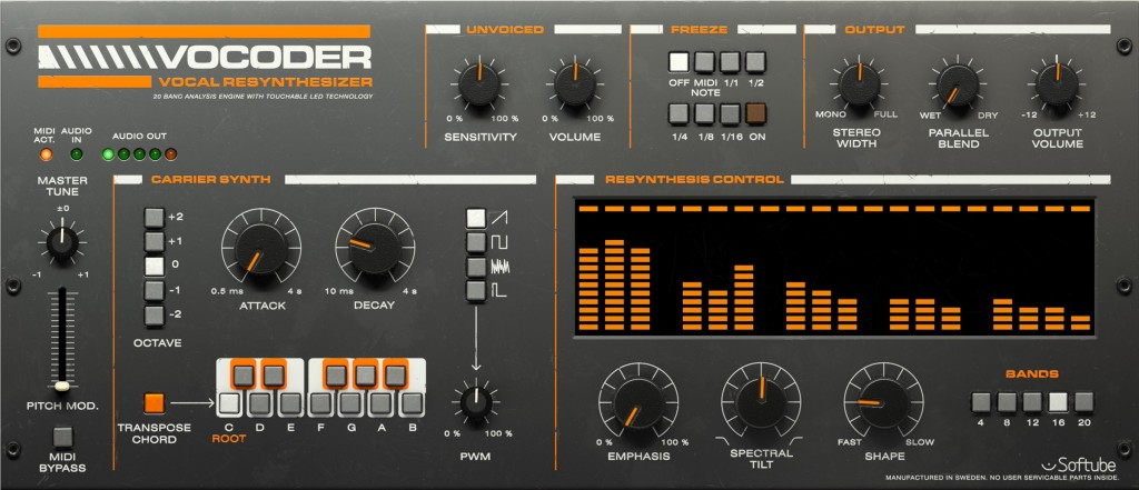 Universal Audio just made their interfaces into a live vocoder, more