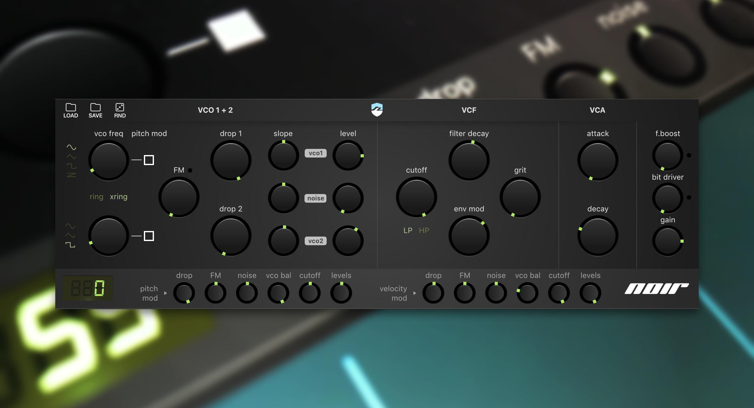 Noir is part bass, part drum synth – a must-have iOS drum machine