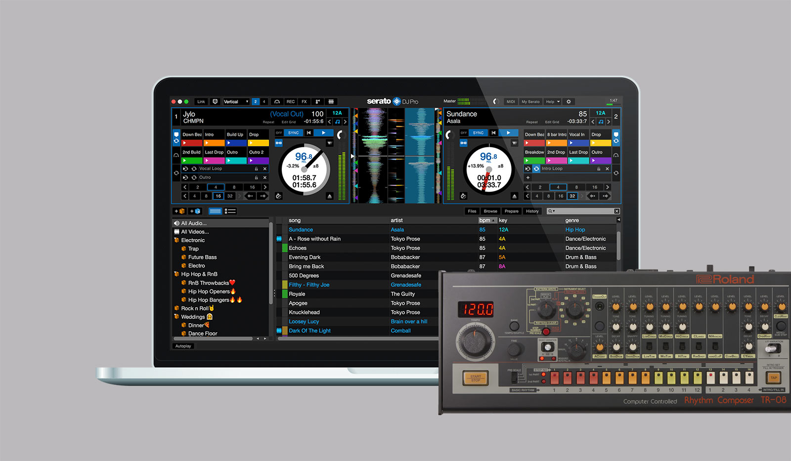 roland just made syncing serato and tr drum machines automatic cdm create digital music. Black Bedroom Furniture Sets. Home Design Ideas