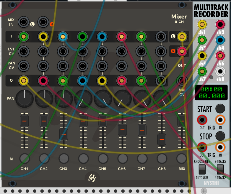 How to make a multitrack recording in VCV Rack modular, free
