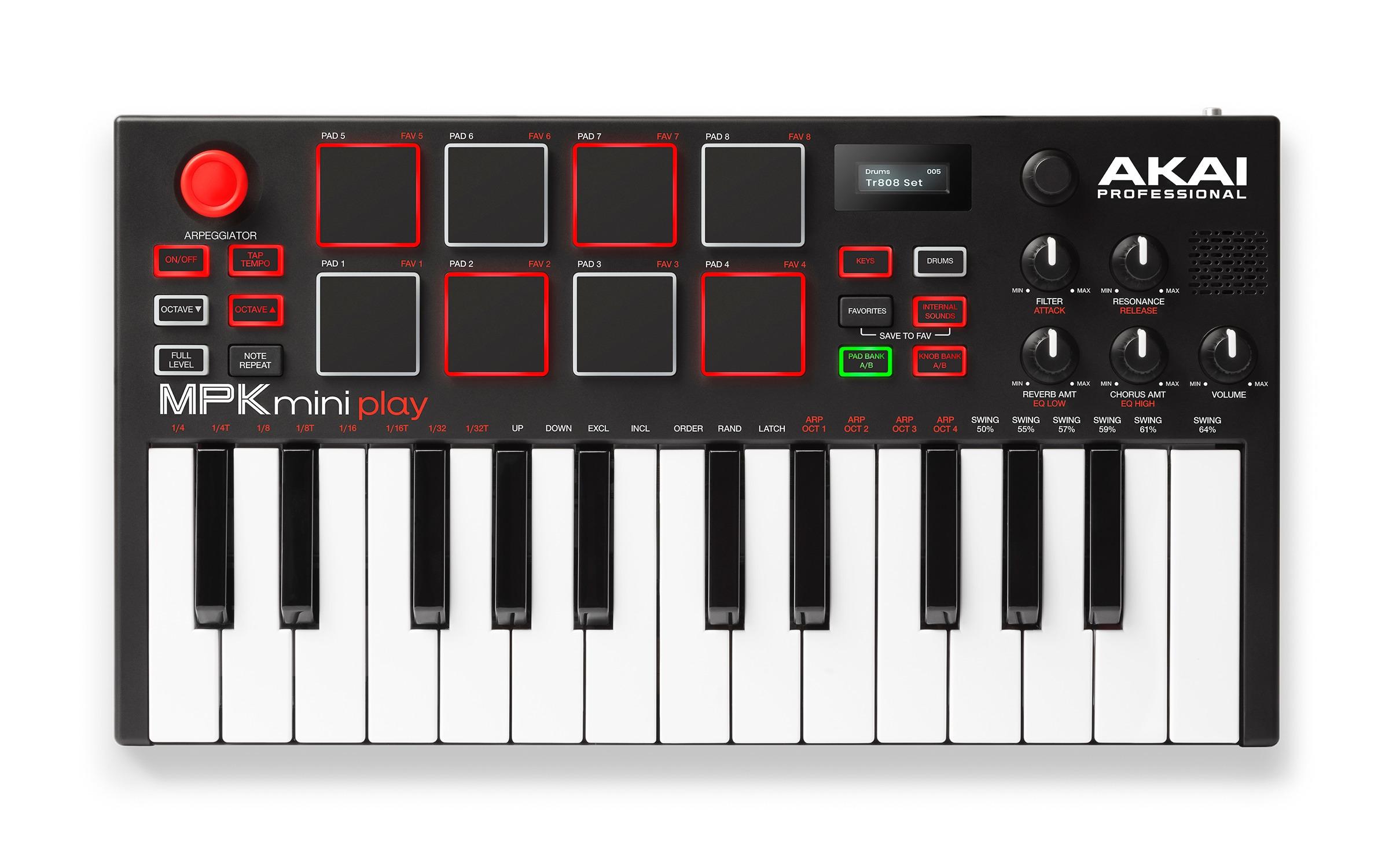 AKAI's cute little MPK mini keyboard now has internal sounds