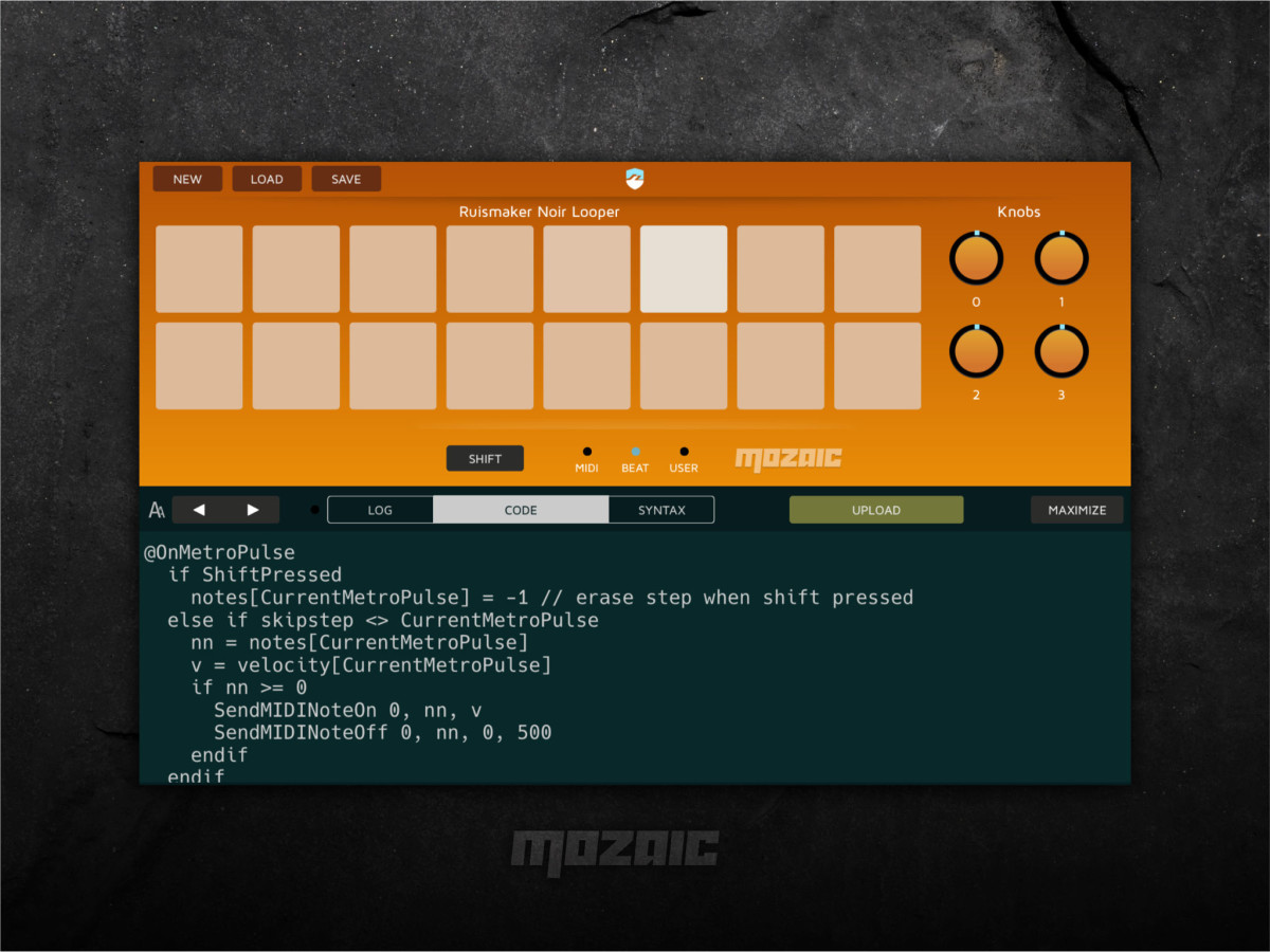 IOS - Mozaic Scriptable MIDI tool (Roll Your Own MIDI Plugins)