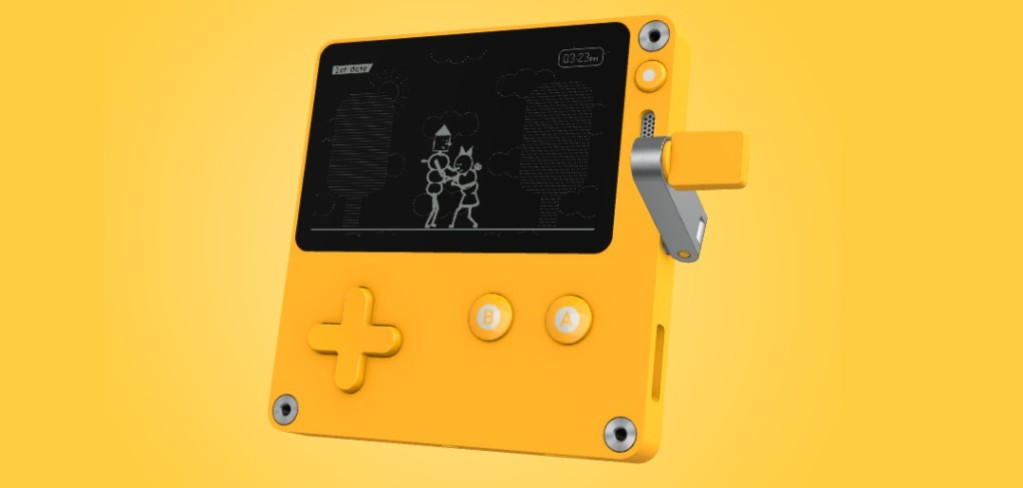 Playdate is an indie game handheld with a crank from Teenage Engineering, Panic