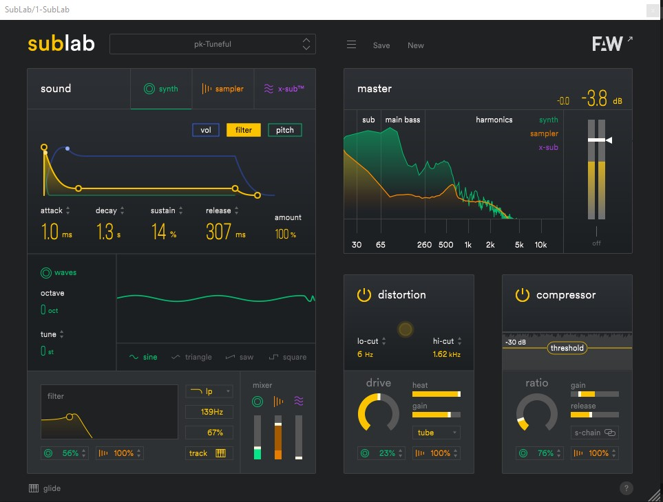 SubLab is an 808 bass synth and more, from makers of Circle