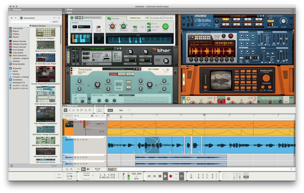 Reason 11: tons of new devices, features, and now it's a plug-in, too - CDM Create Digital Music