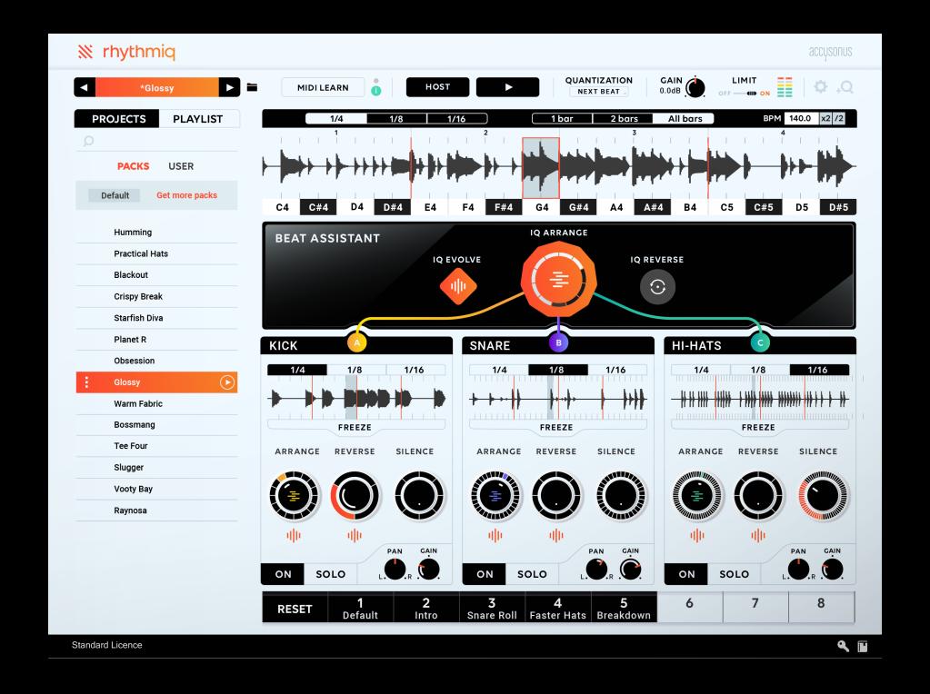 Accusonus Rhythmiq is an AI assistant that works with your rhythms and control