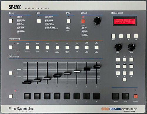 If you've got $7500, you can also have an E-mu SP-1200 sampler remake