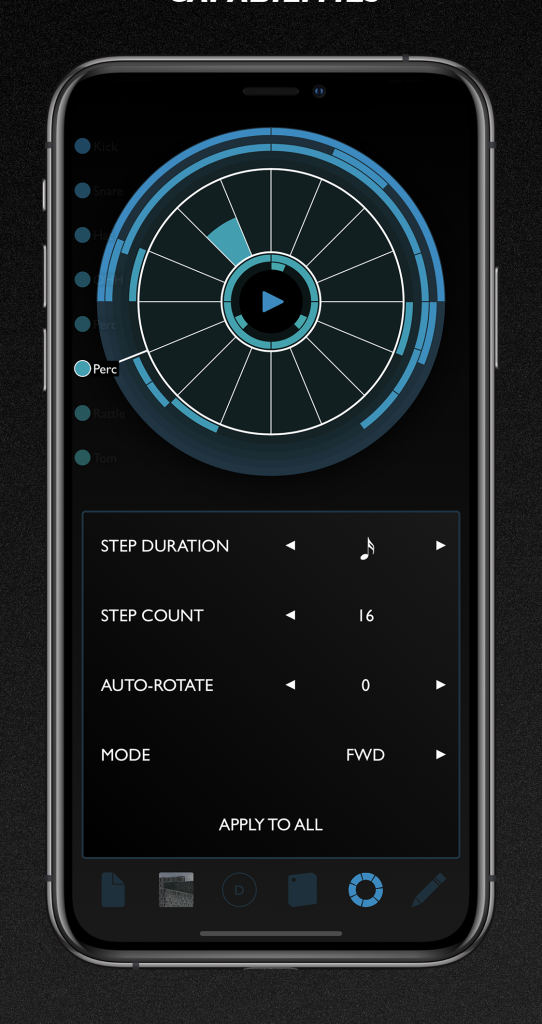 Patterning is as unique and as circular as drum machines get – now on your iPhone