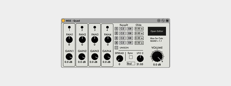 MSE synth, looking very classic synth - Oberheim-ish.