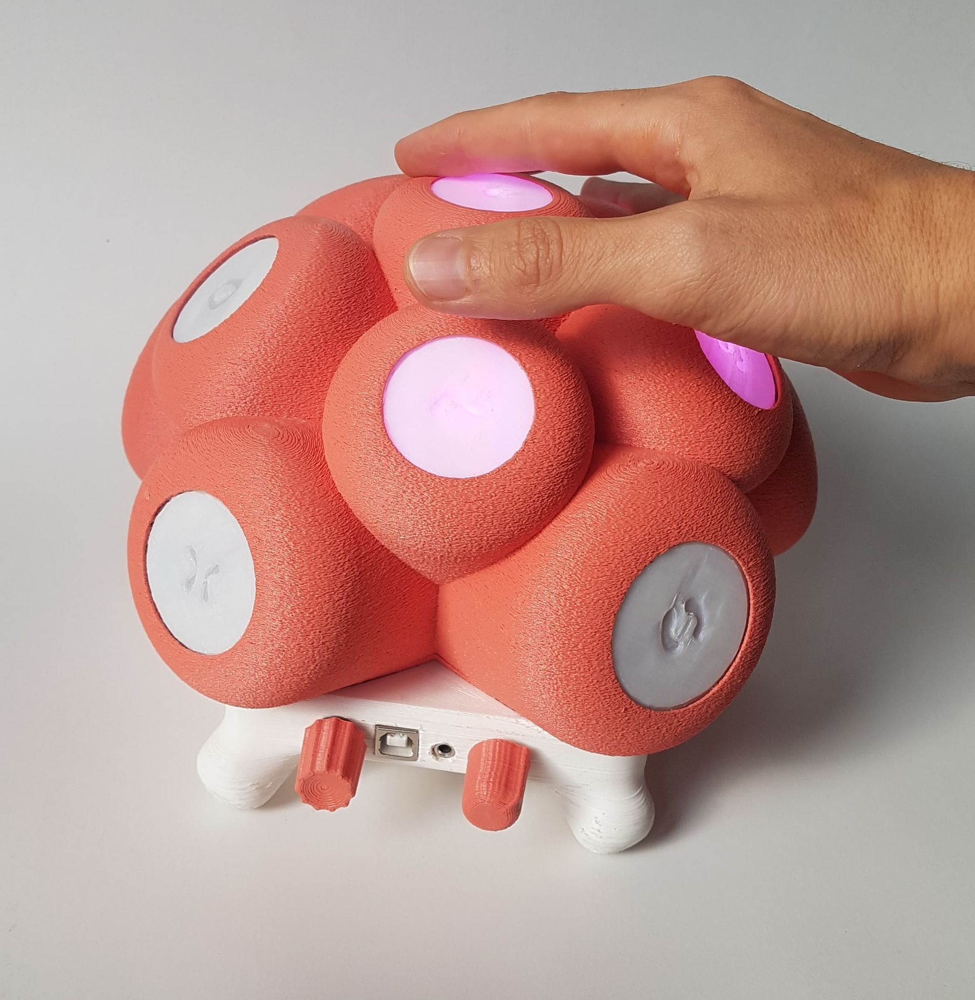 This bulbous-looking instrument is made for music therapy and inclusive design, too